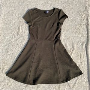 Divided Olive Green Skater Dress 🍂